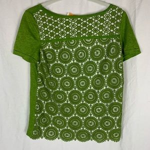 Tory Burch green lace top NWT
